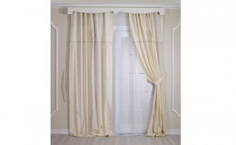 King Cream Canopy Curtain (150x220)