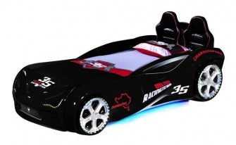 PitStop Extreme Black Car Beds 90x190