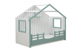 Bedstead With Roof Water Green