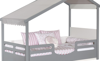 Bedstead With Roof Grey